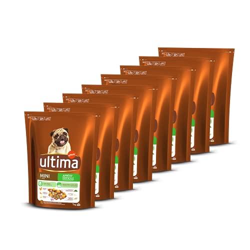 Ultima Croquettes pour Chien Mini (1-10 kg) Adulte Appétit Difficile Poulet - 8 x 1 kg - Total: 8 kg