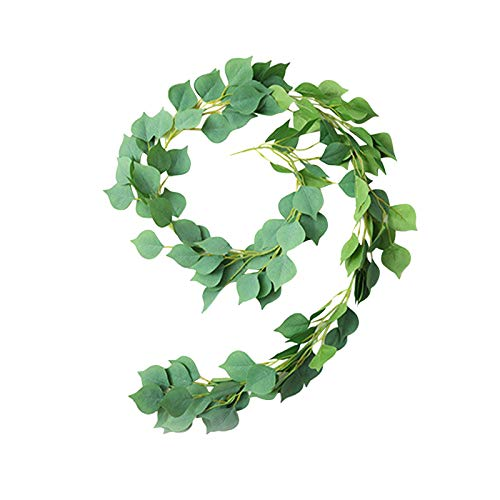WENHAO - Ghirlanda artificiale con foglie finte da appendere, per porte, porte, fiori, ghirlande primaverili, ornamenti per casa, porta, ufficio, giardino, matrimonio, decorazione