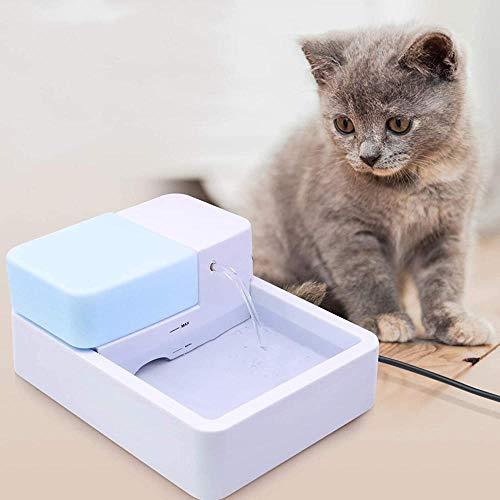 KONGWU 1.8l Haustier Katze Wasserbrunnen Haustier Trinkbrunnen LED Licht UV-Funktion Elektrische Wasserbrunnen-Haustier Wasserspender für Katzenhund Amazing
