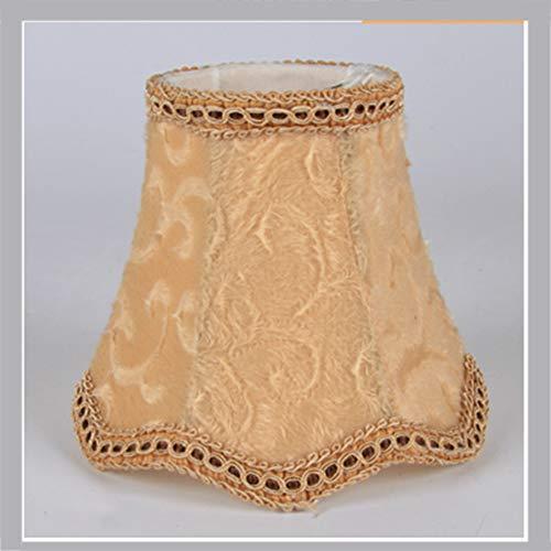 Pantalla para lámpara de araña con forma de gota con forma de onda, lámpara de techo, estilo europeo moderno, tela para vela, bombilla de pared, lámpara de mesa (23#)