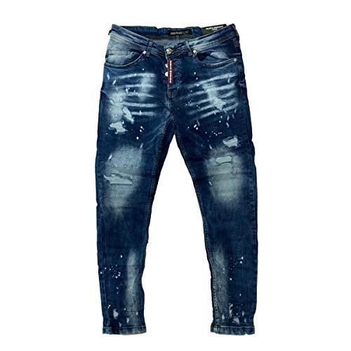 Mario Morato Jeans Despimntados Skinny Fit Placa Roja