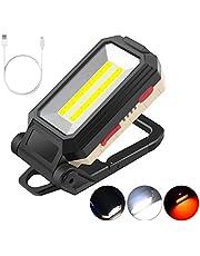 Gobesty LED werklamp, 10 W LED schijnwerper oplaadbare draagbare inspectielamp magnetische zaklamp met USB voor autoreparatie, vissen, kamperen, wandelen, noodveiligheidslichten
