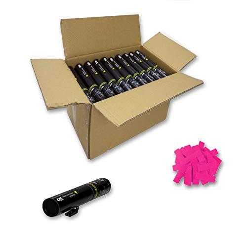 EUTOPICA Packung mit 20 elektrischen Konfetti-Kanonen, 30 cm (Pink)