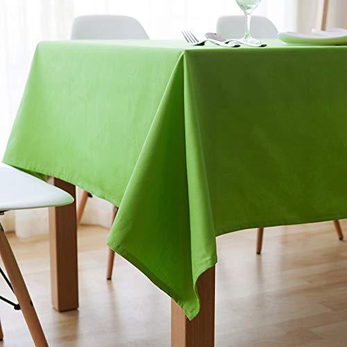 DJUX Mantel Simple Moderno paño de algodón Rectangular Engrosado Mantel de Color sólido Sala de Estar Comedor Mantel de café 140x180cm