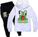 Sudadera con capucha y pantalones deportivos con diseño de rana de dibujos animados para niños y niñas
