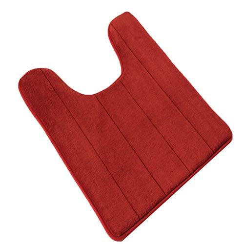 U-type geheugen katoenen toiletmat tapijtmat, badmat, antislip badmat, antislip antislip elastische badmat