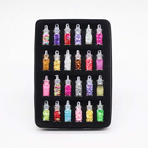 12/24 colori DIY Slime Kit Set per Fai da Te Creativo - Kit de Slime Per Colla con Glitter Fabrica per Slime Fluorescente, Colla Slime Fluffy