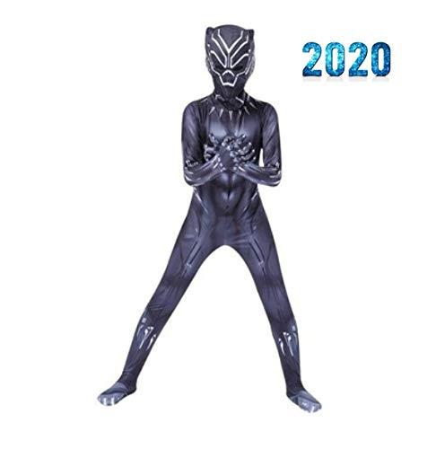 Spídermàn Kostüm Jungen Party Cosplay Kostüm Kinder Rächer Black Panther Kostüme Superheld Weihnachtskarneval,Black-110-120cm