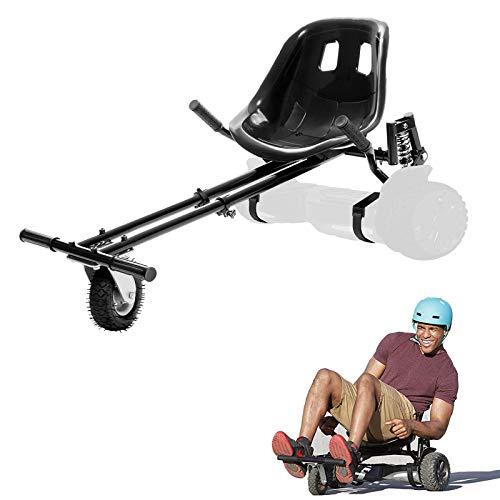 LIBRNTY Asiento Hoverboard, Kart para Patinete,Silla de Scooter Self Balance, 2020Estilo de amortiguación,Nuevos Velcros Más Resistentes y Rueda LED,Regalo para niños