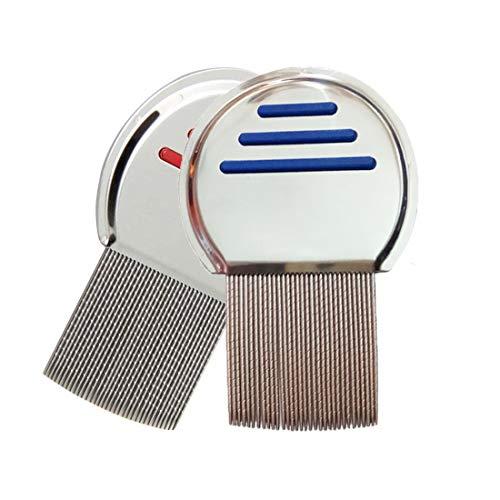 2 Pcs Stainless Steel Hair Dandruff Comb