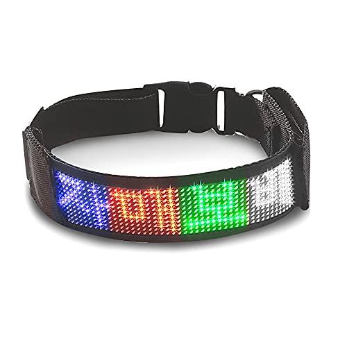 Collar Luminoso Perro de Mascota, Collar LED Ajustablespara Perros Pequeños, Medianos y Grandes,Multicolour
