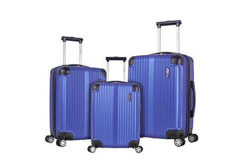 Rockland Berlin Hardside Expandable Spinner Wheel Luggage Set, Blue, 3-Piece (20/24/28)