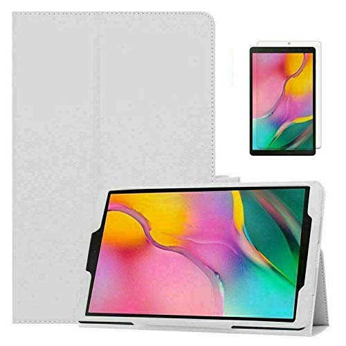 Leather Flip Cover Stand Plain Folio Case for Apple iPad Air 1 2 5th 6th Gen 9.7 (For Apple iPad (6th Generation), White)