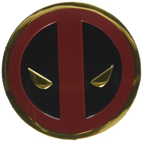 Preisvergleich Produktbild Classic DEADPOOL Icon,  Officially Licensed Marvel Artwork,  Premium Vinyl Gold Metallic Finish,  3cm Metal Sticker Aufkleber