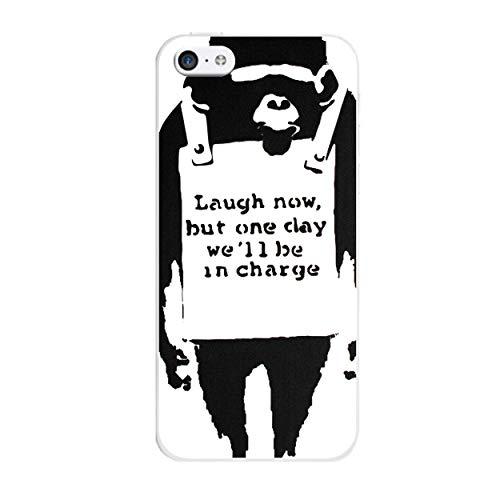 iCHOOOOSE Banksy gelbeschermhoes voor smartphone Apple iPhone 5c Jumpsuit