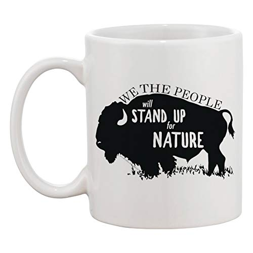 Stand Up For Nature Taza Blanca Café Té Hombres Mujeres Cerámico Coffee Tea Mug Cup