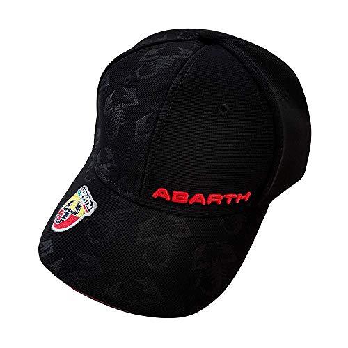 ABARTH 21733 schwarzer Hut mit gebogenem Visier, Black, One Size