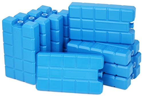COM-FOUR® 9x Big Pack cold pack in blauw - koelelementen voor koelbox en koeltas - cold packs voor huishoudens en vrije tijd
