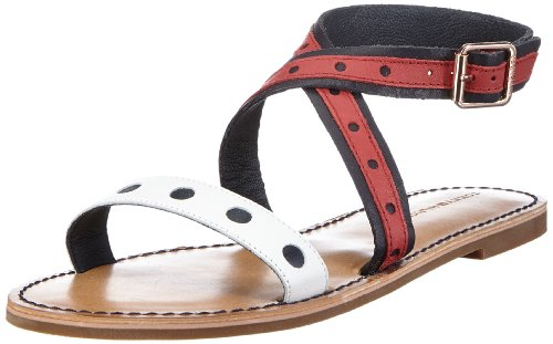 Tommy Hilfiger Damen Julia 14 Sandalen, Blau (Midnight/Tango RED/Whisper WH 403), 40 EU