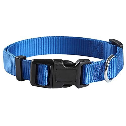 ZZCR Collar De Perro Mascota Collar De Nailon para Mascotas Collar De Entrenamiento Anti-Accidente Cerebrovascular para Perros Pequeños Azul 2cmx50cm