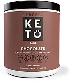 Perfect Keto Exogenous Ketones: Base BHB Salts Supplement. Ketones for Ketogenic Diet Best to Support Weight Management & Energy, Focus and Ketosis Beta-Hydroxybutyrate BHB Salt (Chocolate)