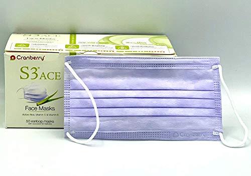 Cranberry S3 EL Earloop Face Mask Mint Lavender Box/50
