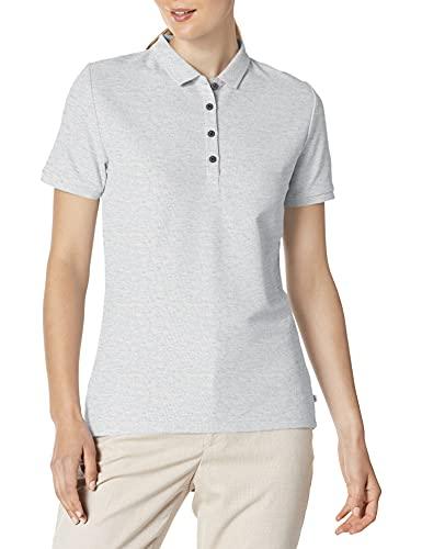 Calvin Klein Damen Performance Cotton Pique Polo Golfhemd, Pearl Marl, Medium