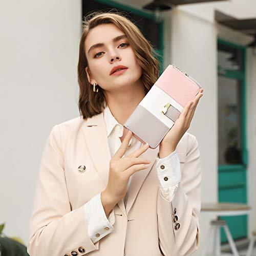 Pomelo best Monederos Mujer Cartera de Mujer de Gran Capacidad de Cuero de Mujer con RFID Bloqueo Bolsos Largo de Mujer con Cremallera de Bolsillo y Borlas (Diseño 2)