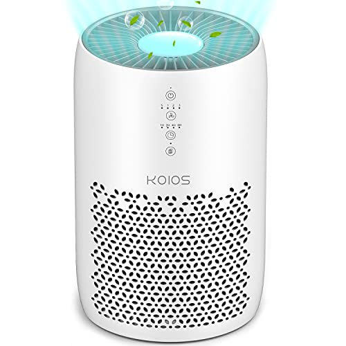KOIOS Air Purifier for Home Large Room 861 sq ft, High CADR H13 True HEPA Air Filter Cleaner Odor Eliminators for Allergies and Pets Dander Wildfire Smoke Dust Pollen,Filter Indicator, Ozone-Free