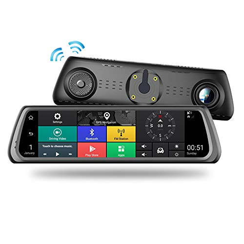 Cámara De Coche Doble,camara De Coche Dash Cam, Auto Touchscreen Full Hd 1080p Dash Cam Conducir Grabadora 170°áNgulo G-Sensor DeteccióN De Movimiento GrabacióN En Bucle Monitor De Aparcamiento