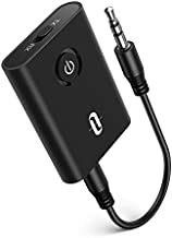 TaoTronics Bluetooth 5.0 Transmitter and Receiver, 2-in-1 Wireless 3.5mm Adapter (Low Latency, 2 Devices Simultaneously, For TV/Home Sound System/Car/Nintendo Switch)