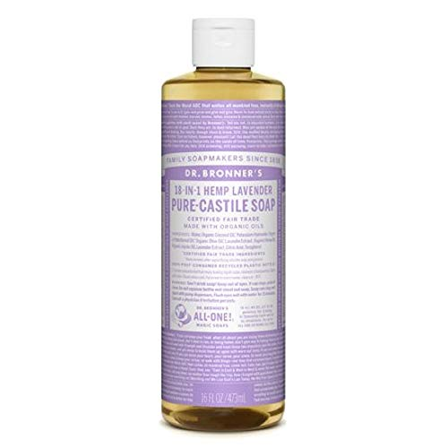 Dr Bronners Magic Soap All One Csla16/76416 16 Oz Lavender Dr. Bronner's Pure Castile Liquid Soaps