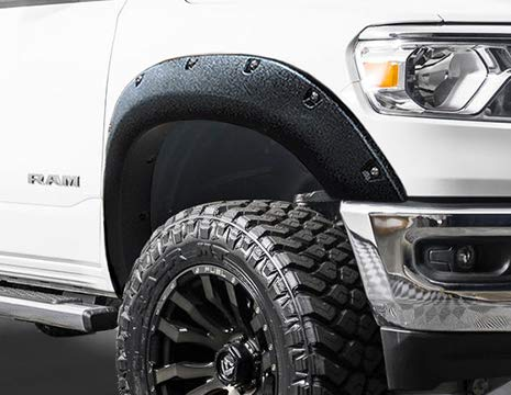 RDJ Trucks PRO-Offroad Bolt-On Style Fender Flares - Fits/Compatible with Ram 1500 2019-2020 - Set of 4 (Textured Black)