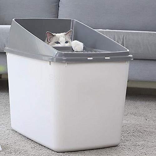 HSDFGJSDF volledig gesloten deodorizing super grote kat toilet met top-in kat zandbak