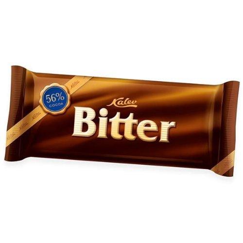 [Packung von 9] Lecker Estonisch Kalev Bitter Dunkel Schokoladenriegel (100g)