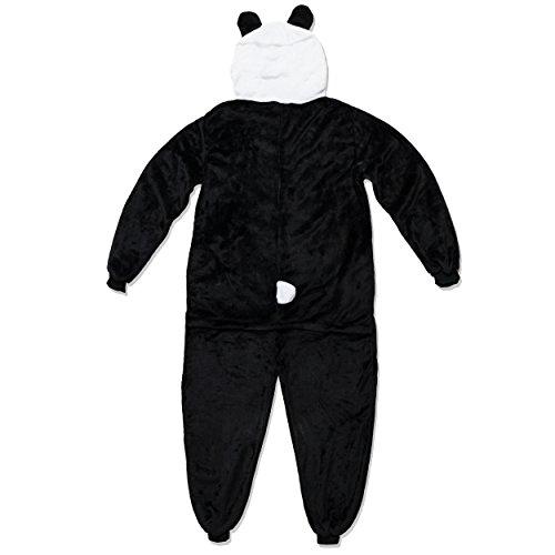 Katara 1744 – Panda Kostüm-Anzug Onesie/Jumpsuit Einteiler Body für Erwachsene Damen Herren als Pyjama oder Schlafanzug Unisex – viele verschiedene Tiere - 2
