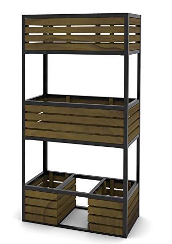 Hochbeet Beet aus Metall und Holz 150x80x40cm 303250108-HE