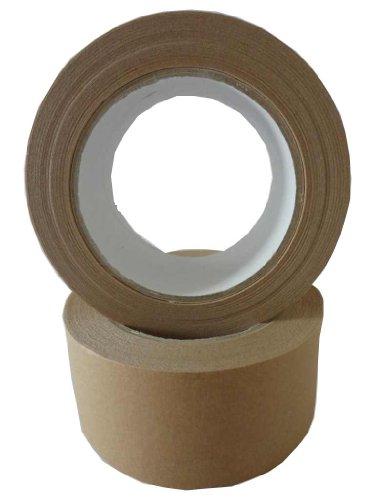Unbekannt 6 Rollen Papier Klebeband Paketband Packband 50M x 50mm braun 120my