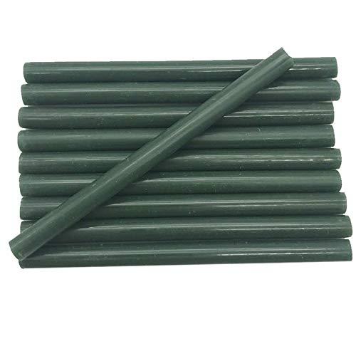 HUMINGG Pegamento Termofusible 7mm de Color Verde Pegamento palitos para Pistola eléctrica...
