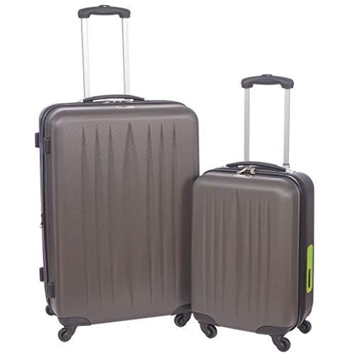 Swiss Travel Products - Juego de maletas negro gris oscuro