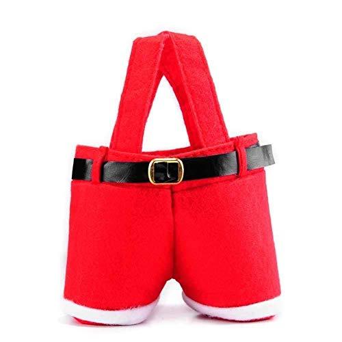 Ouken Pantalones De Santa Creativa De La Galleta Bolsa Candy Bag Saco Llenador De La Media Botella De Vino Portátil Bolsa De Almacenamiento