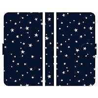 ブレインズ Xperia Ace II SO-41B 手帳型 スマホ ケース カバー 星 星柄 27 星座 ネイビー かわいい レディース 星空 宇宙 宇宙柄 ギャラクシー柄 ほし 空 夜空 キラキラ