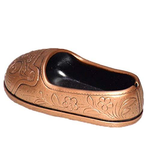 MLOZS Cenicero Cenicero de Interior con la Tapa Principal del Tigre Chino Zapatos Estilo cenicero de Regalo de la decoración