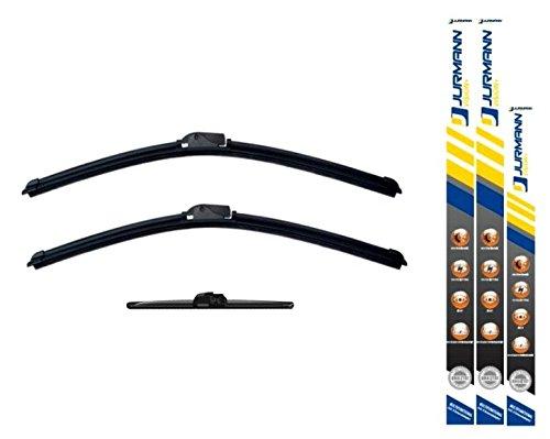 Jurmann® Vision+ Aero Scheibenwischer 950/600 + 325 mm Komplettsatz Vorne + Hinten Wischblatt Satz A-Klasse [W168] Bj 10.97-08.04