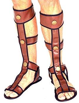 Forum Novelties Roman Gladiator Sandals Brown One Size