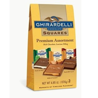 Ghirardelli Assorted Chocolate Squares 485oz Gift Bag