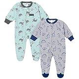 Just Born 2-Pack Blanket Sleepers, Dinos & Sloths, 18M