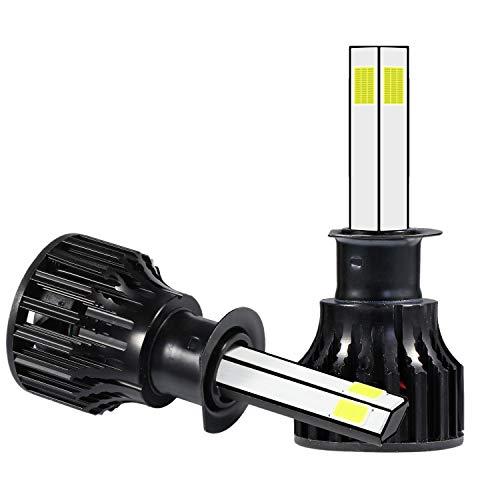 GGBEST 2 Piezas H1 PatróN de IluminacióN de 360 Grados (4 Lados) Kit de Bombillas de Faros LED 2000W 300000LM 6000K Blanco