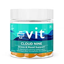 Vit Anxiety and Stress Relief Supplement - Ashwagandha w/Vitamin B12 for Mood Support and Herbal Adaptogens for Calm - Cloud Nine Softgels 100% Plant-Based, Vegan, Non-GMO