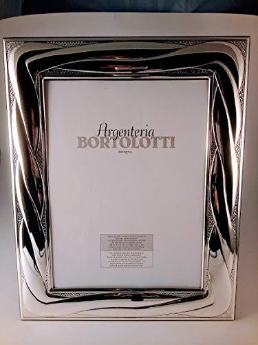 1365/18 GBG Cornice Portafoto Corda Larga in Argento 925 Bilaminato Retro Legno (Argento 925, Argento 925 Bilaminato)